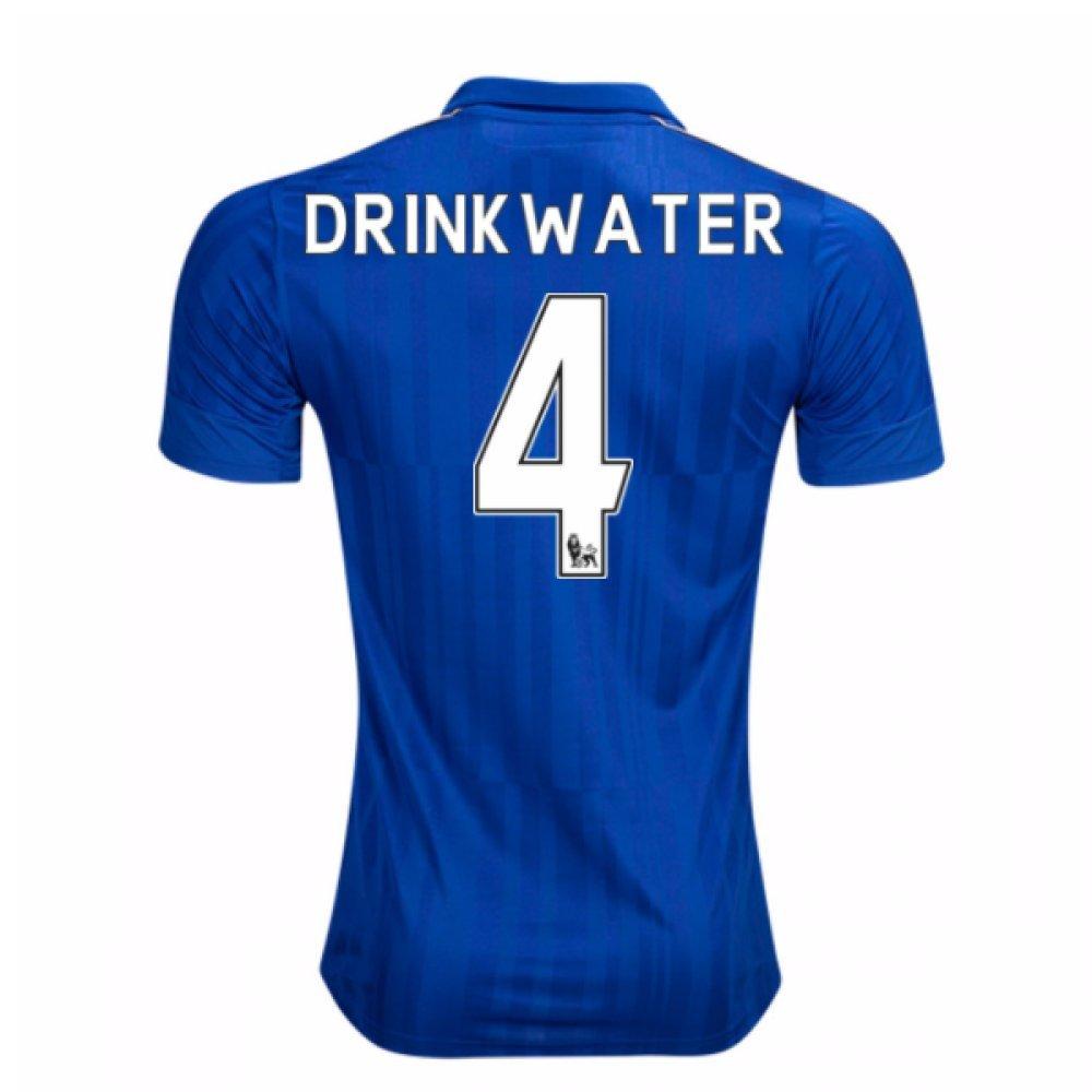 2016-17 Leicester City Home Shirt (Drinkwater 4) B01MEEFLP6