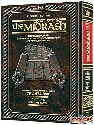 Kleinman Ed Midrash Rabbah: Bereishis Vol 1 Parshiyos Bereishis through  Noach: ArtScroll Mesorah Publications: 9781422615195: Amazon.com: Books