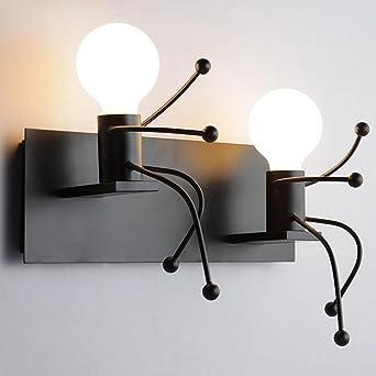 Einfache Kreative Kinder Wandleuchte Bösewicht Modellierung Wandleuchte  Moderne Wohnzimmer Schlafzimmer Kreative Nachttischlampe Korridor Aisle  Treppen ...