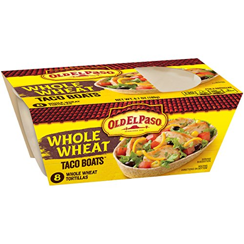 Old El Paso Taco Boats Whole Wheat Tortillas, 6.7 Ounce