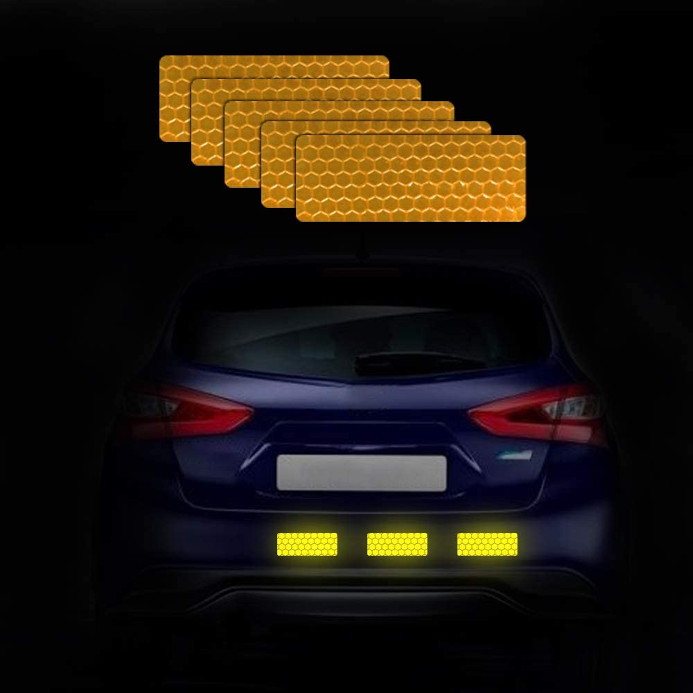 Reflective Safety Rectangle Self Adhesive Sticker for Car Motorcycle Bicycle Bag