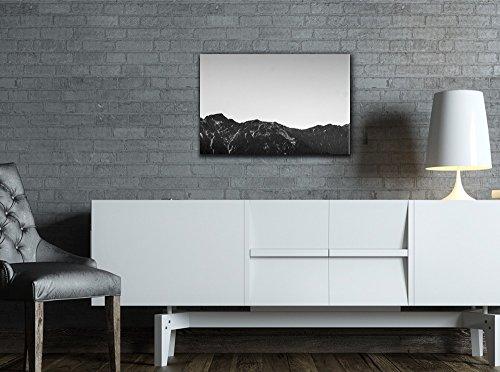 Mountain Range in Black and White