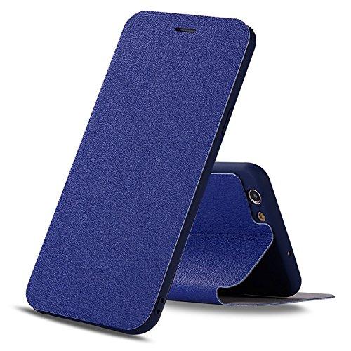 YHUISEN Caso de OPPO A59S, caja de cuero de lujo ultra fina de la PU del tirón con el soporte para OPPO A59S ( Color : Green ) Dark Blue
