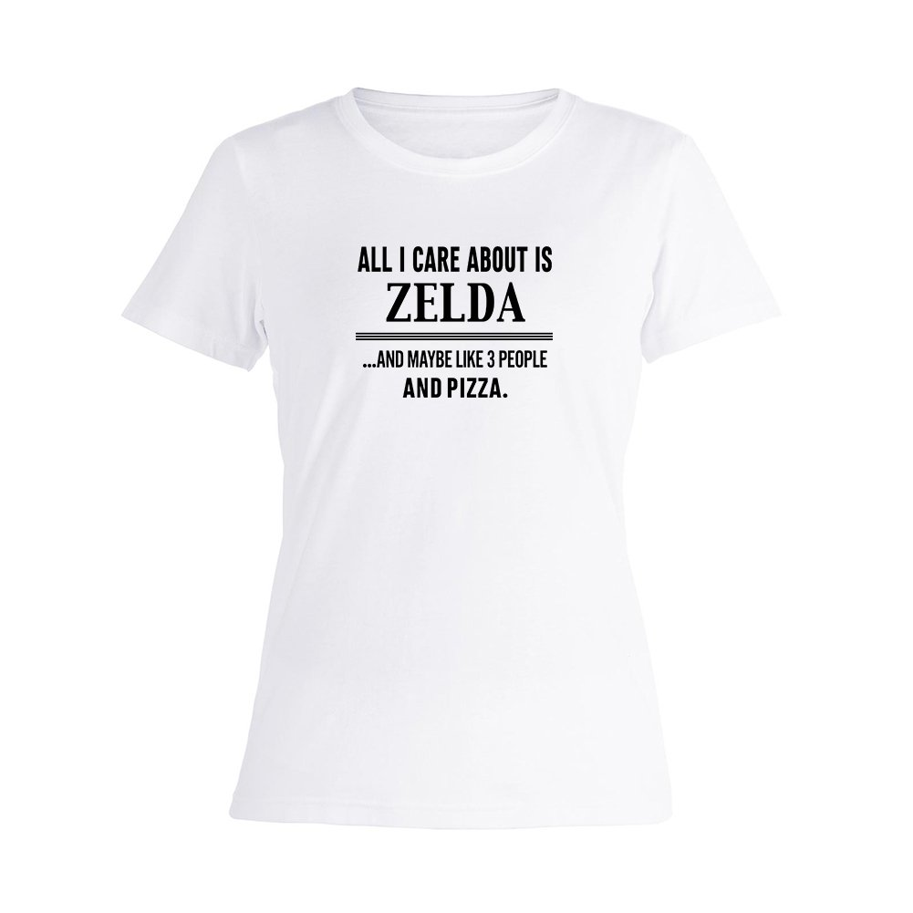 New Womens All I Care About is Zelda Summer T Shirt O-Neck