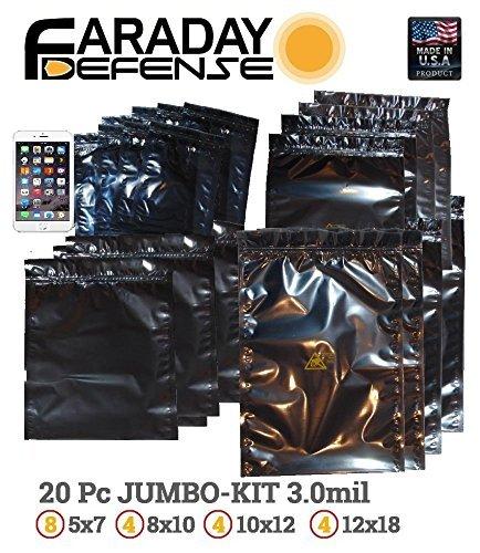 20) jaula de Faraday Emp/ESD bolsas completo 20 XL Kit Amarillo ...