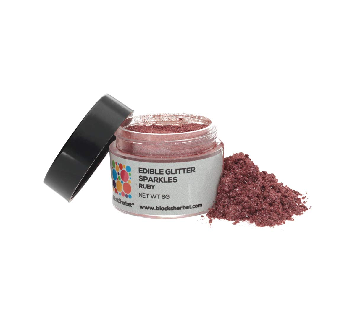 Edible Glitter Sparkles (5 grams) for Drinks, Dessert, Cakes, Cupcakes, Decorating. 100% Edible & Food Grade. (Ruby)
