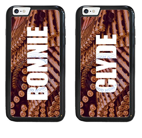 BleuReign(TM) Set Of 2 BFF Bonnie And Clyde 2-Piece Dual Layer Phone Case Back Cover For Apple iPhone 6 Plus and iPhone 6s Plus (5.5 Inches Screen)