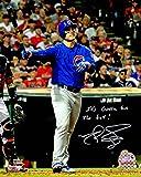 Matt Szczur Signed Chicago Cubs Anthony Rizzo 2016 World Series HR Using Szczur's Bat 8x10 Photo w/It's Gotta Be The Bat