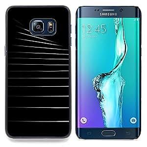 For Samsung Galaxy S6 Edge Plus / S6 Edge+ G928 Case , Negro Arquitectura Blanca Vacía - Diseño Patrón Teléfono Caso Cubierta Case Bumper Duro Protección Case Cover Funda
