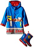 Wippette Boys' Work Zone Rain Jacket and Boot Set, Royal, 4T