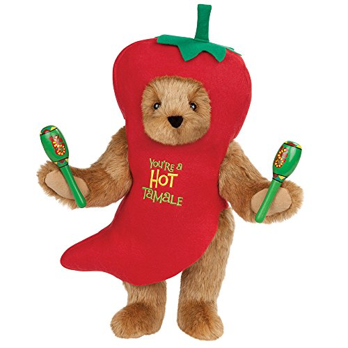 Vermont Teddy Bear - Mother's Day Spicy Mama Bear with Rattles, Made in The USA, Stuffed Toy, Brown - Bear Teddy Mama