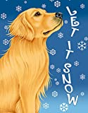 Golden Retriever - Best of Breed Let It Snow House Flag