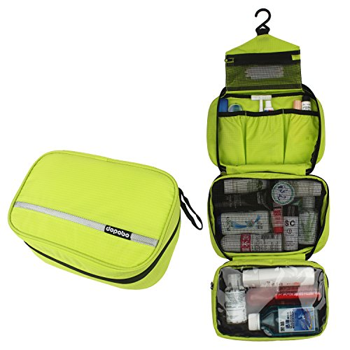 Dopobo Travelling Toiletry Bag Portable Hanging Water-Resistant Wash Bag for Travelling, Business Trip, Camping(green)