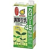 マルサン 調製豆乳 カロリー45% オフ 1L×6本
