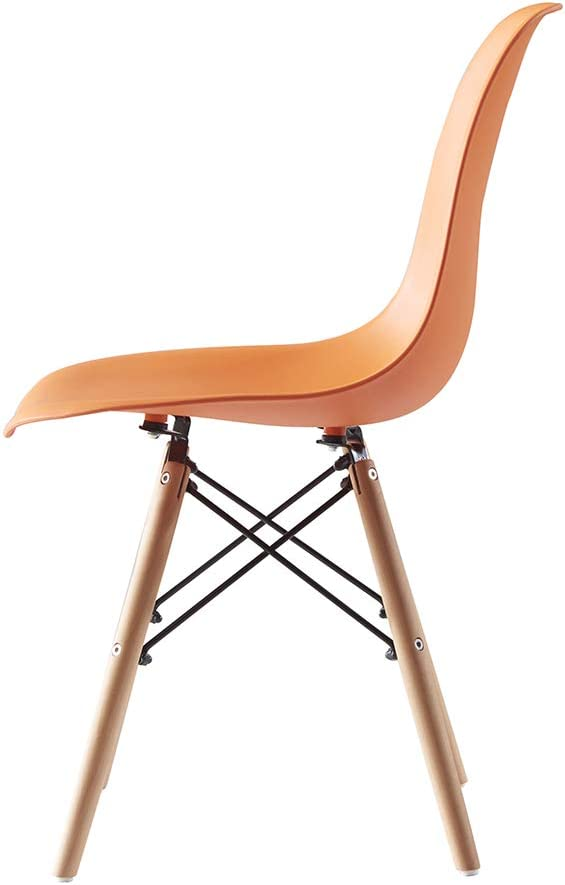Orange Luxes Plastic Designer Style Dining Chairs Eiffel Retro Lounge Office Chair Dining Chairs Dining Room Furniture