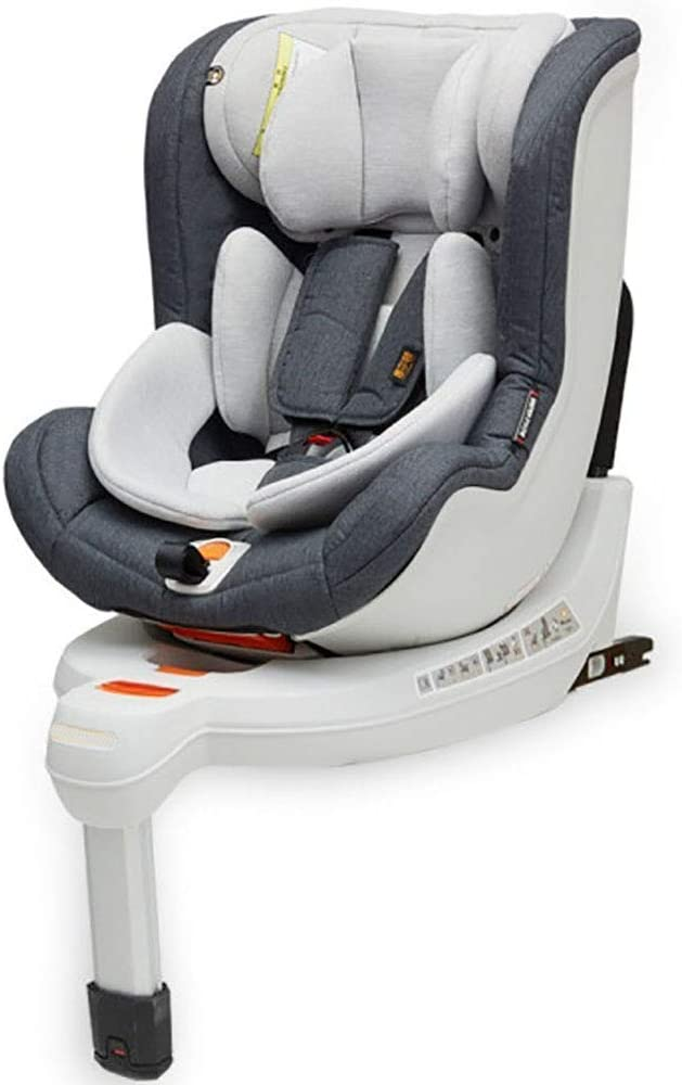 Babify Protect-Fix Silla de Coche Isofix Giratoria 360º - Grupo 0+ 1 (0-18 kg) - Color Soft Grey
