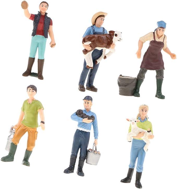 B Blesiya Set de Figura de Acción Modelo de Granjero en Miniatura ...