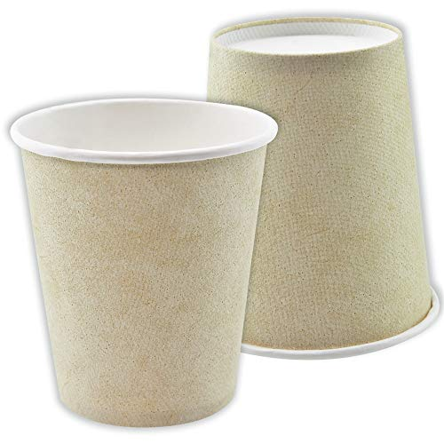 Brown Paper Cups (Canbo 8 oz Paper Cups, 50 Pcs in One Pack, Paper, Eco-Friendly Sturdy Disposable Hot and Cold Beverages Cups, Coffee Cups)