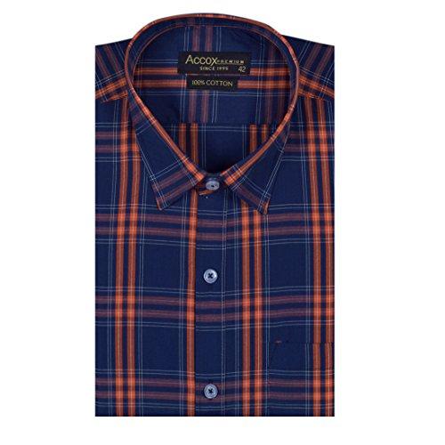 51OAcQ4%2B0XL. SS500  - ACCOX Half Sleeves Formal Regular Fit Cotton Check Shirt for Men