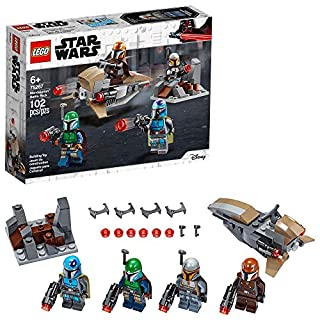 LEGO Star Wars Mandalorian Battle Pack 75267 Mandalorian Shock Troopers and Speeder Bike Building Kit; Great Gift Idea for Any Fan of Star Wars: The Mandalorian TV Series, New 2020 (102 Pieces)