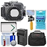Sony MPK-URX100A Marine Underwater Housing Case for RX100 Series Cameras with Case + NP-BX1 Battery & Charger + Underwater Light + Floating Handle Kit