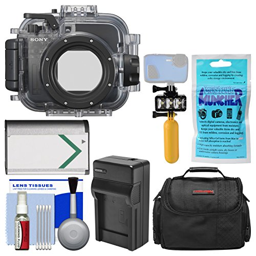 Sony MPK-URX100A Marine Underwater Housing Case for RX100 Series Cameras with Case + NP-BX1 Battery & Charger + Underwater Light + Floating Handle Kit by Sony