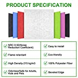 DEKIRU New 12 Pack Acoustic Foam Panels, 12 X 12 X