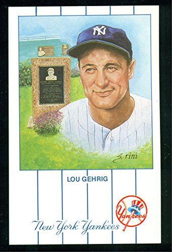 - 1990 Lou Gehrig New York Yankees #1 from the Monument Park Limited set of 5,000 - Baseball Card