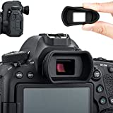 Photo : Soft Silicon Camera Viewfinder Eyecup Eyepiece Eyeshade for Canon EOS 6D2 6D 5D2 5D 90D 80D 77D 70D 60D 50D Rebel T7i T7 T6s T6i T6 T5i T5 T4i T3i T3 T2i T1i SL3 SL2 SL1 Replaces Canon EB Ef Eye Cup