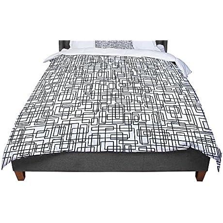 KESS InHouse Trebam Komada Black White King Cal King Comforter 104 X 88