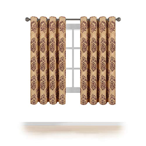 MEMIAS Window Jacquard Darkening Curtains with Grommets, 2 Panels, Each Panel, 52
