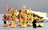 3.5'' King Height - Collector Edition Brass Chess Pawn Chessmen Roman Figure Figurine Pieces Coins