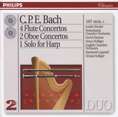 Bach, C.P.E.: 4 Flute Concertos; 2 Oboe Concertos, etc. (2 CDs) (Philips Philips Cd)