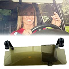 WINOMO Anti Glare Anti-dazzle Clip-on Auto Car Sun Visor Mirror