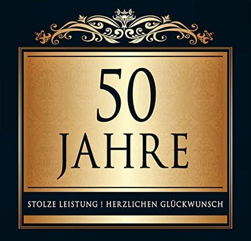 Udo Schmidt Aufkleber Flaschenetikett Etikett 50 Jahre Jubiläum gold elegant