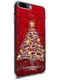 Case Snap on iPhone 8 Plus (2017) / iPhone 7 Plus (2016) 5.5 Inch Red Christmas Tree