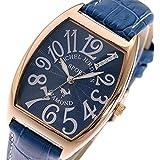 ミッシェルジョルダン MICHEL JURDAIN 天然ダイヤモンド クオーツ メンズ 腕時計 SG-1100-8 ネイビー