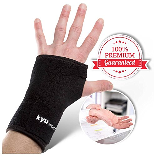 KYUSports Wrist Brace for Carpal Tunnel Pain & Tendonitis, Left Hand (Keyboard Enlarged Computer)