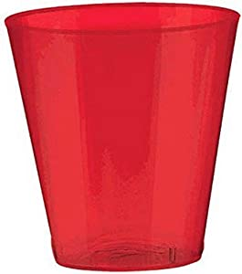 Big Party Pack Apple Red Shot Glasses | Pack of 100 | Party Supply