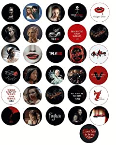 """Set of 31 True Blood Buttons/pins/badges Collection (1.25"""" Diameter)"""