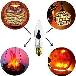 3 Watt Flicker Flame Light Bulb, 10 Pack Clear Fla