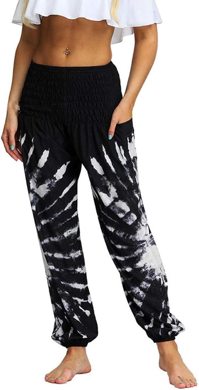 Amazon.com: Baggy Boho Aladdin Pants Men Women Casual Loose ...