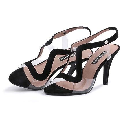 1fde347900c216 FEFEFEF Sandales Femme Talons aiguilles Pieds larges Pieds épais Chaussures  Pour Femmes 41 42 43 Talons