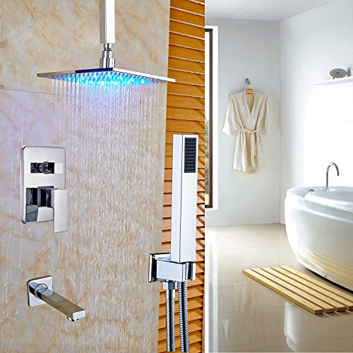 Faucet Mount Tub Ceiling (Rozin Chrome 3-way Control Ceiling Mounted LED Light 12