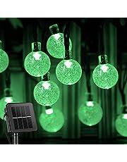 Luzes Solares de Corda, BCXAXA 60 LED 11M de Luzes de Natal Externa com 8 modos de Iluminação, Luzes de Pátio à Prova d'água com Energia Solar para Decoração de Festa de Casamento no Quintal do Jardim