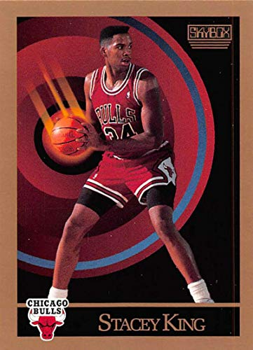 (1990-91 SkyBox Basketball #42 Stacey King RC Rookie Card Chicago Bulls Official NBA Trading)