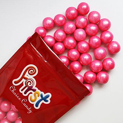 FirstChoiceCandy Bright Pink 1 Gumballs 1 Pound Resealbe Bag