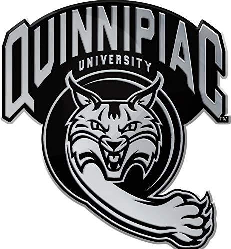 - Stockdale NCAA Quinnipiac University Wildcats Auto Emblem, Chrome Metal, Premium Edition