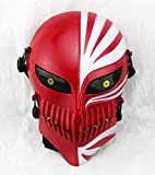 Gmasking Bleach Ichigo Kurosaki Airsoft Wire Mesh Paintball Mask Replica+Gmask Keychain