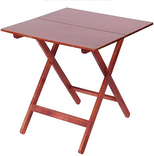 DX Mesa Plegable Mesa Cuadrada Mesa de hogar Plegable Portátil Madera Maciza Roble Rojo 58 * 58 * 61 Mesa Plegable de Haya roja 58 * 58 * 61: Amazon.es: Jardín